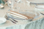 Lasting Events- guest place setting with glass charger