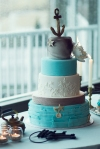 Lasting Events- blue and grey sea themed wedding cake