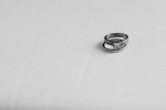 Lasting Events- wedding rings on white background