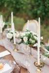 Lasting Events- white and gold accents on vineyard wedding