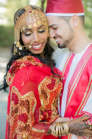 Cultural wedding bride and groom
