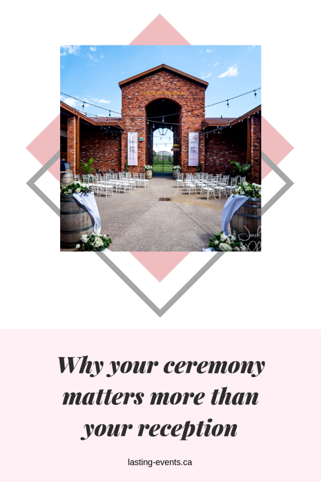 Why your ceremony matters more than your reception