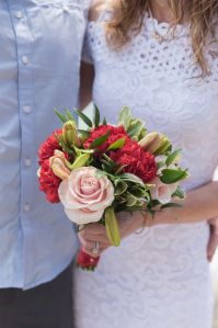 Lasting Events- red and pink bridal bouquet