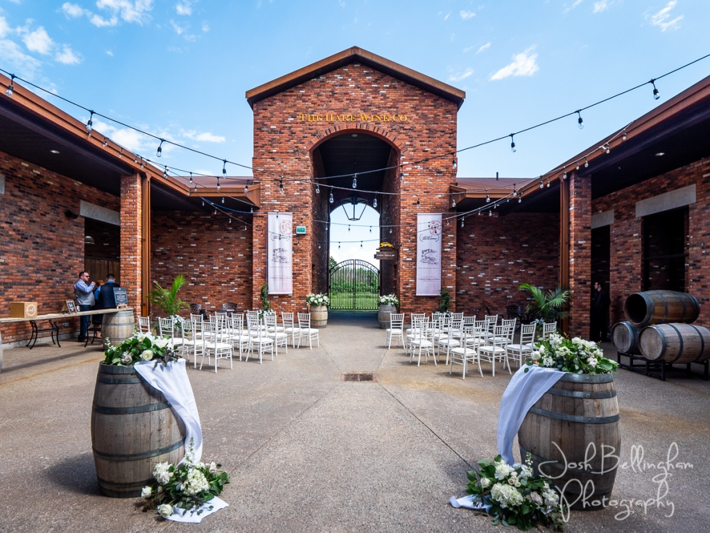 Lasting Events- The Hare Wine Co wedding ceremony