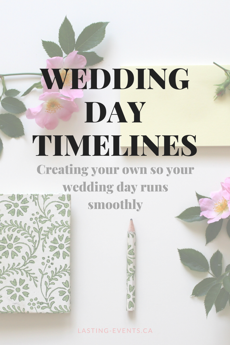wedding day timline: creating your own so your wedding day runs smoothly