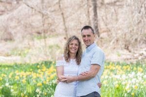 Lasting Events- Niagara Parks Elopement bride and groom in flowers