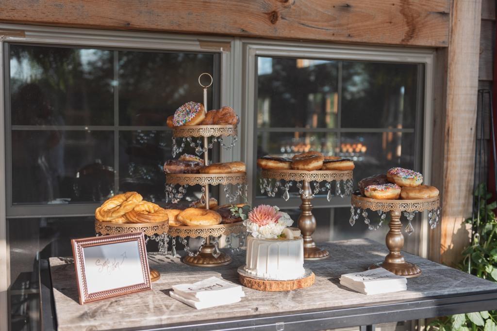 dessert table at Niagara pop up wedding at Stonewall Estates Winery