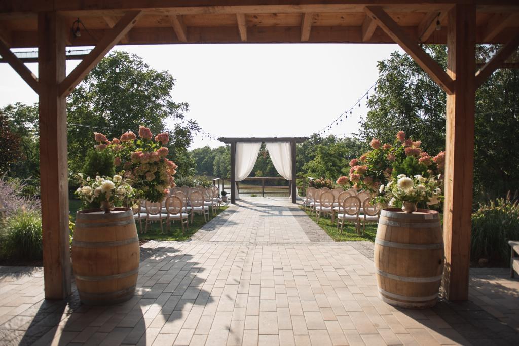 Ceremony location at Stonewall Estates Winery