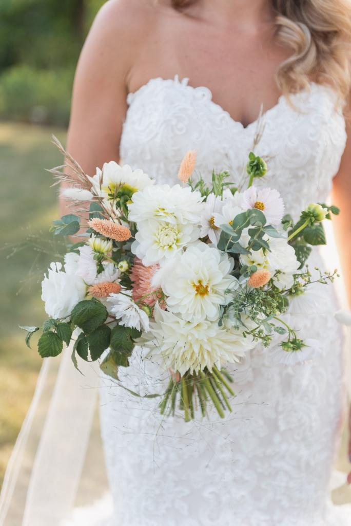 bridal bouquet by Feeder Flower Farms