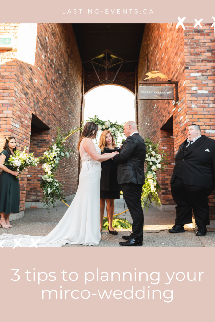 3 tips to planning your micro-wedding