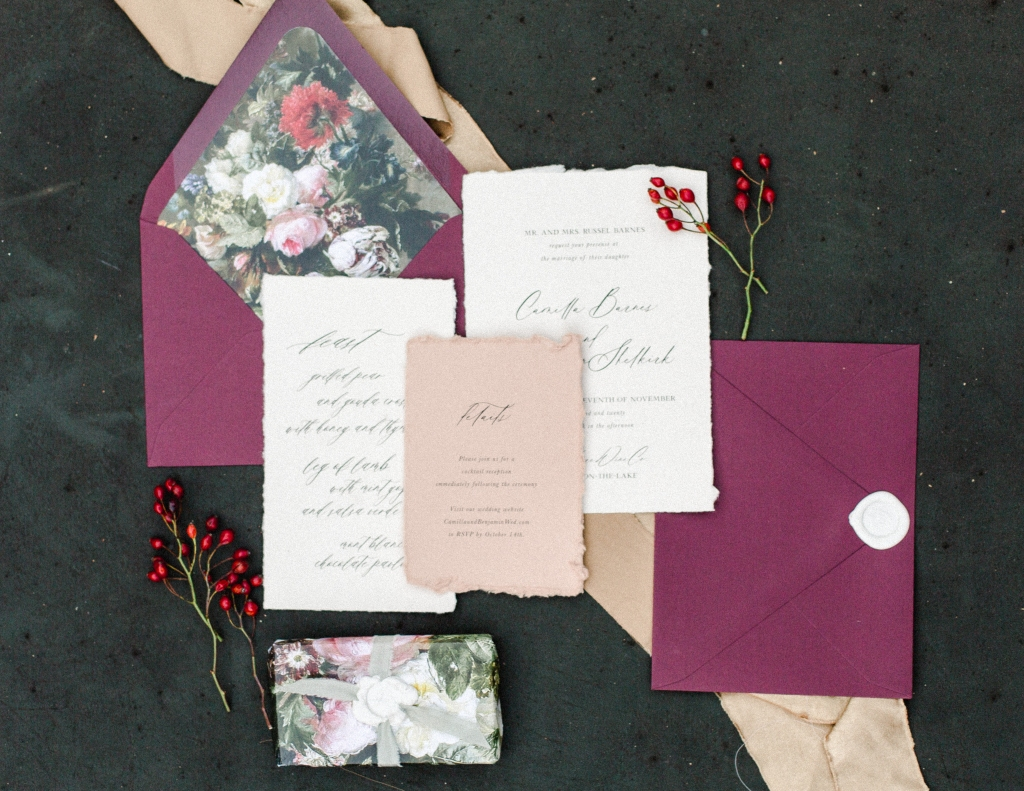 red and white stationery flaylay by StatueRue