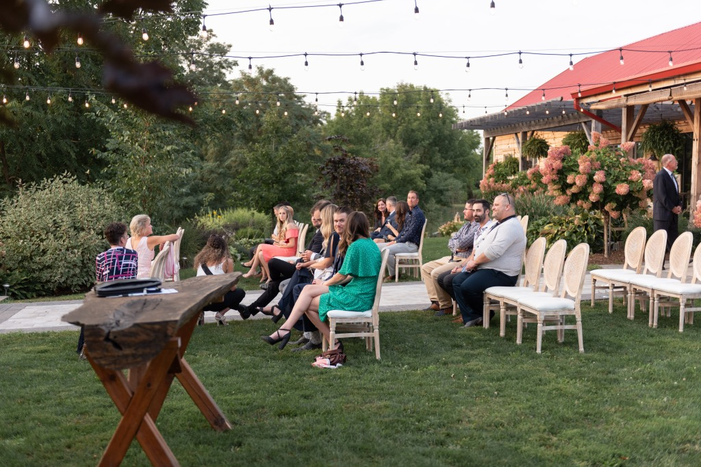 guests sat for ceremony at Stonewall Estates in Niagara