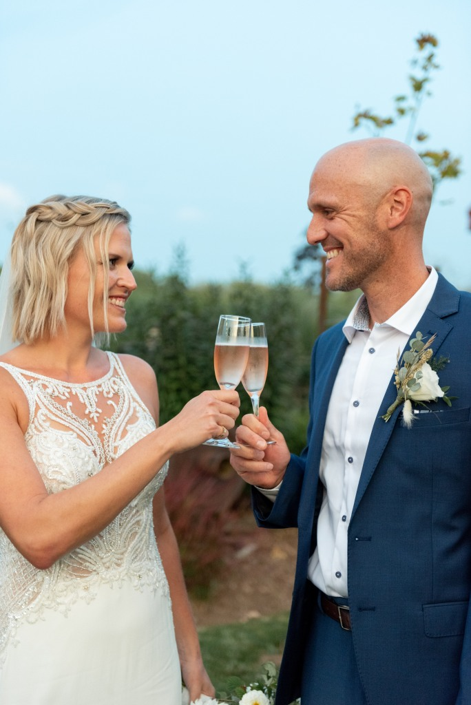 First toast as man and wine at Stonewall Estates