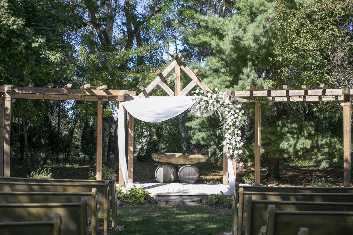 Ceremony Arbour at Honsberger Estate