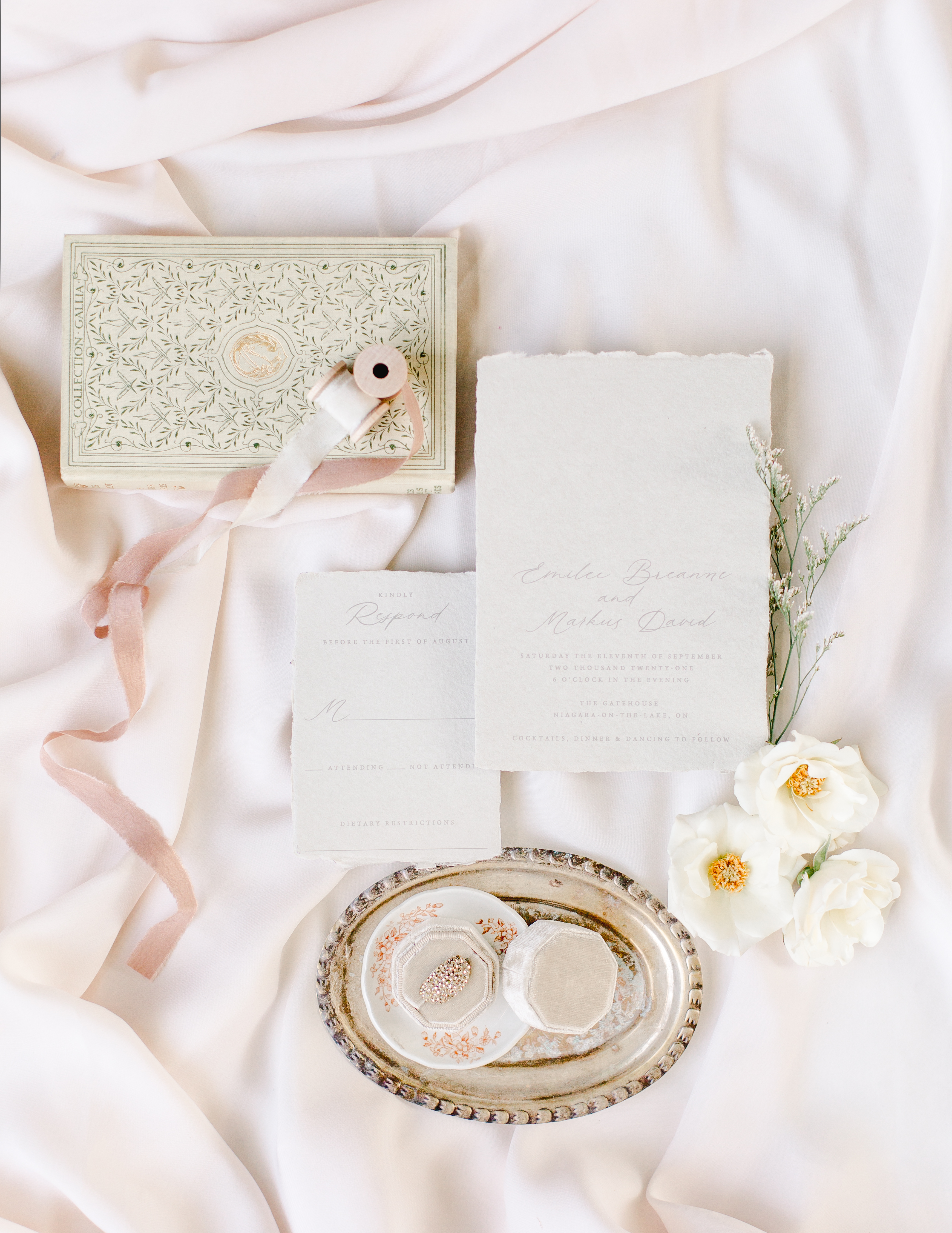 Wedding Stationery flat lay by Red Bicycle Paper Co.