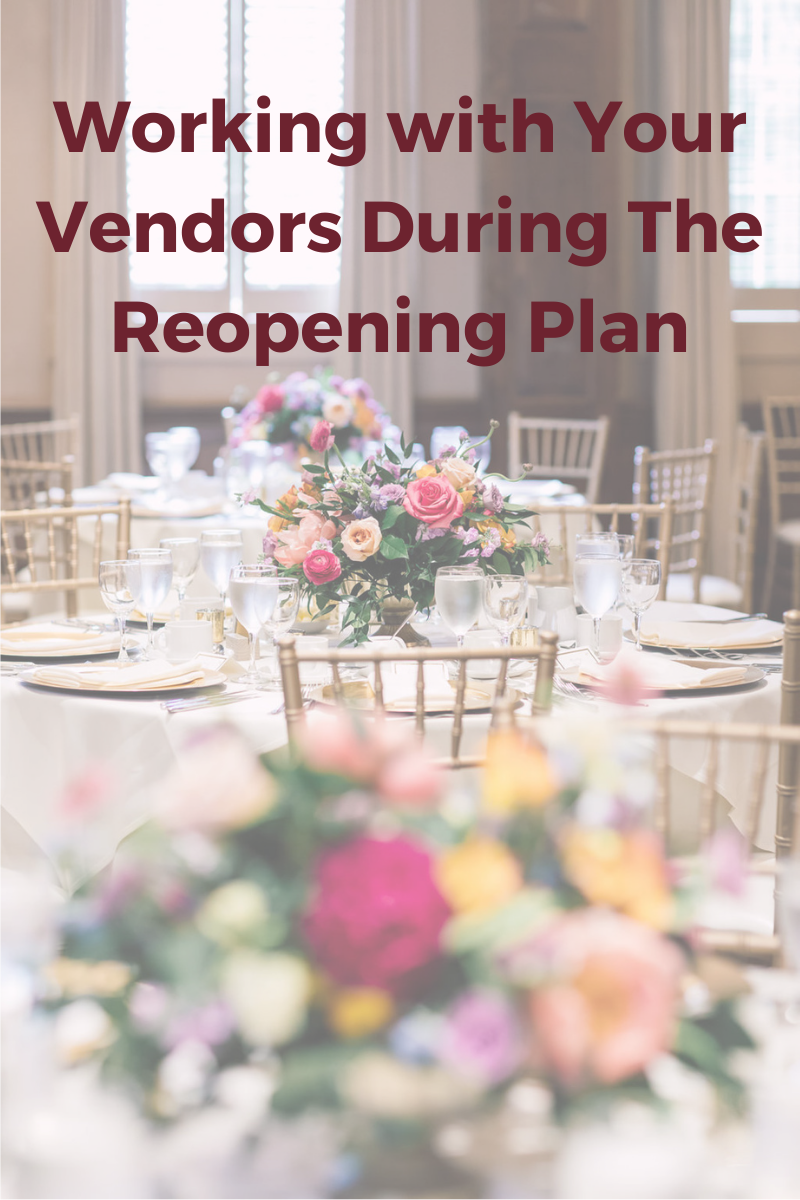 Working with your vendors during Ontario's Reopening Plan by Niagara Wedding Planner Lasting Events